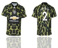 Mens 19-20 Soccer Manchester United Club #2 Lindelof Camo Short Sleeve Jersey