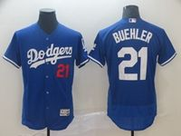 Mens Mlb Los Angeles Dodgers #21 Walker Buehler Blue Flex Base Jersey