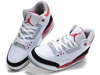 Men Butler Basketball 3 Jordan Shoes Color White With Black Red