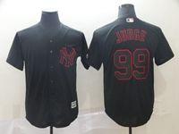 Mens Mlb New York Yankees #99 Aaron Judge Black Shadow Cool Base Jersey