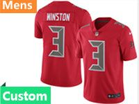 Mens Nfl Tampa Bay Buccaneers Custom Made Red Vapor Untouchable Color Rush Limited Jersey
