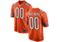 Mens Nfl Chicago Bears (custom Made) Orange Game Jersey