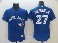 Mens Majestic Toronto Blue Jays #27 Guerrero Jr. Blue Flex Base Jersey