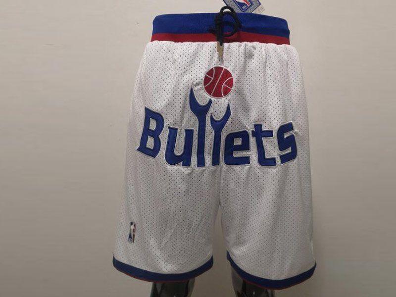 Mens Nba Baltimore Bullets White Nike Just Do Pocket Shorts