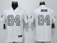 Women Nfl Oakland Raiders #84 Antonio Brown White Color Rush Elite Player Jersey