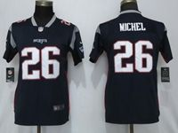 Women New England Patriots #26 Sony Michel Navy Blue Vapor Untouchable Elite Player Jersey