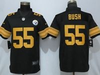 Mens Nfl Pittsburgh Steelers #55 Devin Bush Black Vapor Untouchable Color Rush Limited Player Jersey