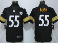 Mens Nfl Pittsburgh Steelers #55 Devin Bush Black Game Jersey