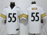 Mens Nfl Pittsburgh Steelers #55 Devin Bush White Game Jersey