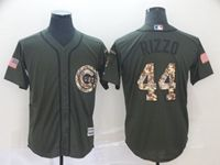 Mens Mlb Chicago Cubs #44 Anthony Rizzo Green (camo Number) Cool Base Jersey
