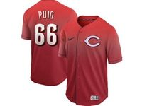 Mens Mlb Cincinnati Reds #66 Yasiel Puig Red Nike Drift Cool Base Jersey