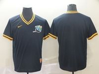 Mens Mlb Tampa Bay Rays Blank Blue Cooperstown Collection Legend V Neck Cool Base Nike Jersey