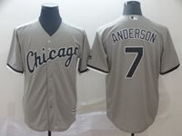 Mens Majestic Chicago White Sox #7 Tim Anderson Gray Cool Base Jersey