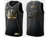 Mens Nba Golden State Warriors #30 Stephen Curry Black Golden Edition Swingman Jersey