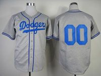 Mens Mlb Los Angeles Dodgers Custom Made Dodgers Gray Throwbacks Cool Base Jersey