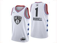 Mens Nike Nba Brooklyn Nets #1 D'angelo Russell White 2019 All-star Jordan Brand Swingman Jersey