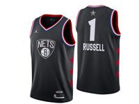 Mens Nike Nba Brooklyn Nets #1 D'angelo Russell Black 2019 All-star Jordan Brand Swingman Jersey
