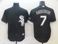 Mens Majestic Chicago White Sox #7 Tim Anderson Black Cool Base Jersey