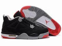 Women Butler Basketball 4 Jordan Shoes Color Black With Black Red