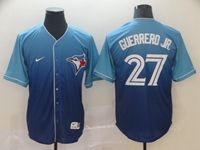 Mens Mlb Toronto Blue Jays #27 Guerrero Jr. Blue Nike Drift Cool Base Jersey