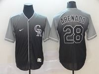 Mens Mlb Colorado Rockies #28 Nolan Arenado Black Nike Drift Cool Base Jersey