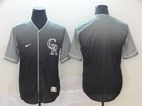 Mens Mlb Colorado Rockies Blank Black Nike Drift Cool Base Jersey