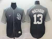 Mens Mlb San Diego Padres #13 Manny Machado Blue Nike Drift Cool Base Jersey