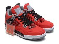 Mens And Women Air Jordan 4 Retro Aj4 Basketball Shoes Red Colour