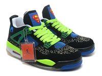 Mens Butler Basketball Air Jordan 4 Retro Superman Aj4 Shoes Color Noctilucent Black And Green