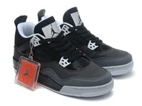 Mens And Women Air Jordan 4 Retro Basketball Shoes Colour Black And Gray