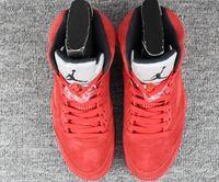 Mens Air Jordan 5 Retro Aj5 Red Suede High Basketball Shoes 1 Colour