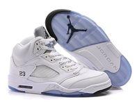 Mens And Women Air Jordan 5 Retro Metallic Silver Aj5 High Basketball Shoes 1 Colour