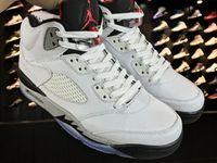 Mens Air Jordan 5 White Cement Aj5 High Basketball Shoes 1 Colour
