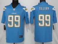 Mens Los Angeles Chargers #99 Jerry Tillery Light Blue 2019 Vapor Untouchable Limited Jersey