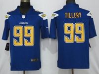 Mens Los Angeles Chargers #99 Jerry Tillery Blue 2019 Vapor Untouchable Color Rush Limited Jersey