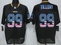 Mens 2019 Nike Los Angeles Chargers #99 Jerry Tillery Black Usa Flag Fashion Elite Jersey