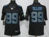 Mens 2019 Nike Los Angeles Chargers #99 Jerry Tillery Fashion Impact Black Limited Jersey
