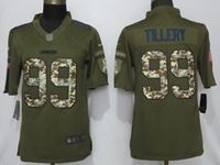 Mens 2019 Nike Los Angeles Chargers #99 Jerry Tillery Green Salute To Service Limited Jersey