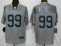 Mens 2019 Nike Los Angeles Chargers #99 Jerry Tillery Gray Lights Out Elite Jersey