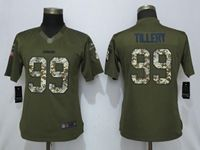 Women 2019 Nike Los Angeles Chargers #99 Jerry Tillery Green Salute To Service Limited Jersey