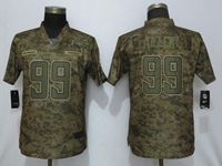 Women 2019 Nike Los Angeles Chargers #99 Jerry Tillery Camo Salute To Service Limited Jersey