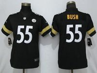 Women Nfl Pittsburgh Steelers #55 Devin Bush Black Vapor Untouchable Elite Jersey