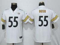 Women Nfl Pittsburgh Steelers #55 Devin Bush White Vapor Untouchable Elite Jersey
