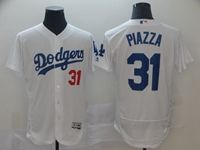 Mens Mlb Los Angeles Dodgers #31 Mike Piazza White Flex Base Jersey
