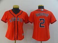 Women Mlb Houston Astros #2 Alex Bregman Orange Cool Base Jersey