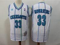Mens Charlotte Hornets #33 Alonzo Mourning White Mitchell≠ss 1992-93 Hardwood Classics Swingman Jersey