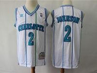 Mens Nba Charlotte Hornets #2 Larry Johnson Green Mitchell≠ss 1992-93 Hardwood Classics Swingman Jersey
