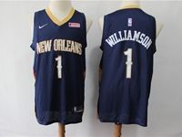 Mens New Orleans Hornets #1 Williamson Blue Cool Base Jersey