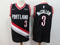 Mens Nba Portland Trail Blazers #3 C.j. Mccollum Black 2018 City Edition Cool Base Jersey