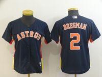 Women 2019 Mlb Houston Astros #2 Alex Bregman Navy Cool Base Player Jersey
